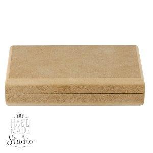 Шкатулка-купюрница прямоугольная малая, 17,5х9,5х3 см