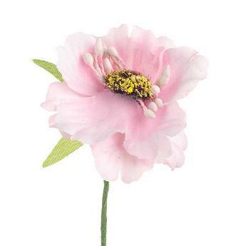 Цветочек из ткани, цвет - розовый