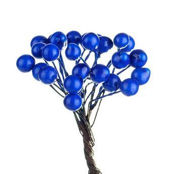 Ягода декоративная лаковая, цвет синий