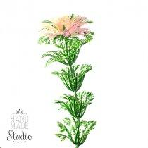 Декотративная веточка с розовым соцветием