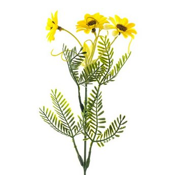 Декотративная веточка с желтыми ромашками