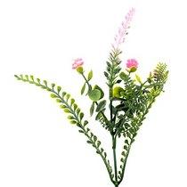 Декотративная веточка с ярко-розовыми цветами