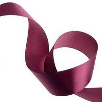 Атласная лента, цвет бордовый