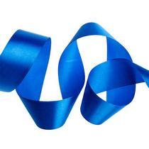 Атласная лента, цвет темно-синий