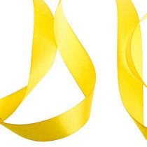 Атласная лента, цвет темно-желтый,25 мм
