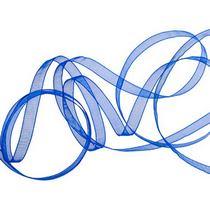 Органза, цвет синий