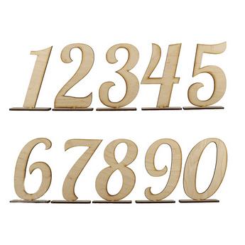Набор цифр на подставке 20 см