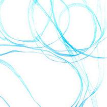 Органза, цвет голубой