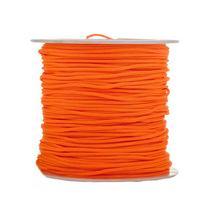Нить бижутерная, цвет ярко-оранжевая