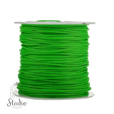 Нить бижутерная, цвет ярко-зеленый