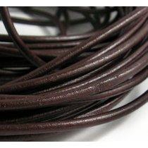 Кожаный шнур, цвет коричневый, толщина 1,5 мм