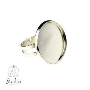 Основа для кольца с платформой 2,3 см, цвет серебро