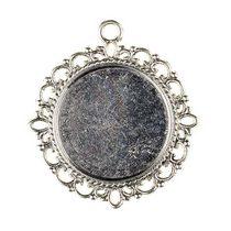 Основа для декорирования круглая 30 мм, цвет - серебро, 1шт