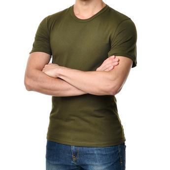 Футболка мужская, цвет хаки, размер S