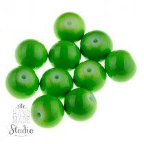 Бусины керамика,  цвет - зеленое яблоко,  1 см