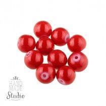 Бусины керамика,  цвет - красный,  1,2 см