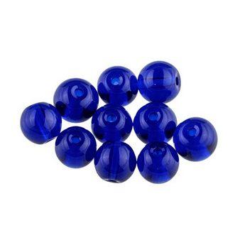 Бусины стеклянные синие, 5 мм, №30