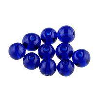 Бусины стеклянные синие, 8 мм, №30