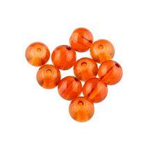Бусины стеклянные оранжевые, 8 мм, №15, 10 шт