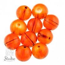 Бусины стеклянные оранжевые, 12 мм, №9