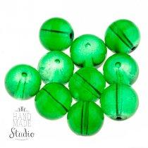 Бусины стеклянные зеленые, 12 мм, №10
