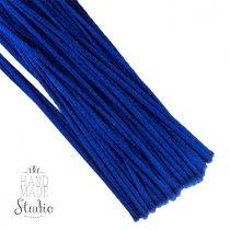 Шнур шелковый, цвет синий, 2 мм