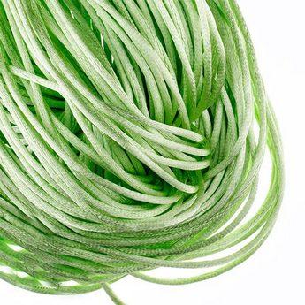 Шнурок шелковый, цвет нежный зеленый, 3 мм