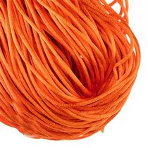 Шнурок шелковый, цвет оранжевый 2 мм