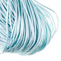 Шнурок шелковый, цвет нежный голубой, 2 мм, 1м.