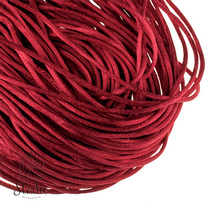 Шнурок шелковый, цвет вишневый, 2 мм, 1м.