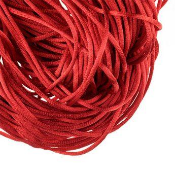 Шнурок шелковый, цвет красный, 3 мм