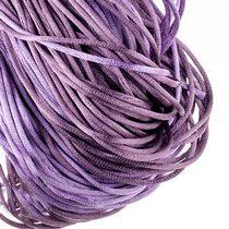 Шнурок шелковый, цвет сиреневый, 2 мм, 1м.
