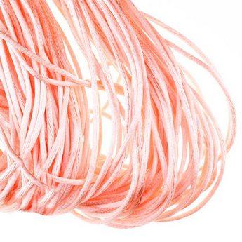 Шнурок шелковый, цвет лососевый, 3 мм