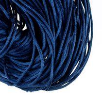 Шнурок шелковый, цвет насыщенный синий, 2 мм, 1м.