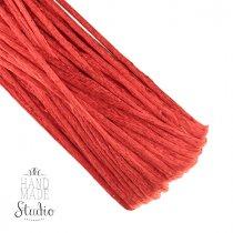 Шнур шелковый, цвет красный, 2 мм