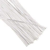 Шнур шелковый, цвет белый, 2 мм, 1м.