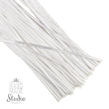 Шнур шелковый, цвет белый, 1,5 мм