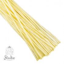 Шнур шелковый, цвет нежно-желтый, 1,5 мм