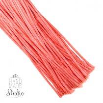 Шнур шелковый, цвет кораллово-персиковый, 2 мм, 1м.