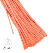 Шнур шелковый, цвет коралловый, 1,5 мм