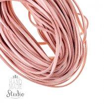 Замшевый шнур, цвет нежно-розовый, толщина 2,5  мм