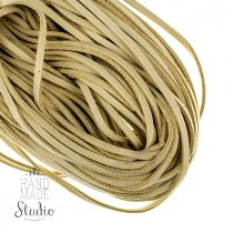 Замшевый шнур, цвет капучино, толщина 2,5  мм