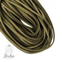 Замшевый шнур натуральный, цвет оливково-зеленый, толщина 2,5  мм