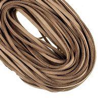 Замшевый шнур, цвет коричневый, толщина 3 мм, 1м.