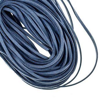 Замшевый шнур натуральный, цвет серо-голубой, толщина 2,5  мм