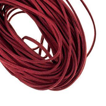 Замшевый шнур натуральный, цвет фуксия, толщина 3 мм