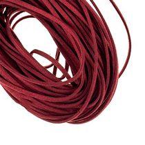 Замшевый шнур, цвет бордовый, толщина 3 мм, 1м.