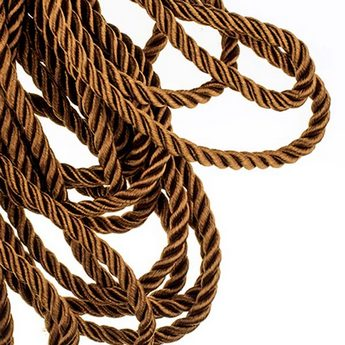 Шнур витой (крученый) 5 мм, цвет коричневый