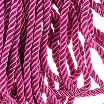 Шнур витой (крученый) 5 мм, цвет розовый