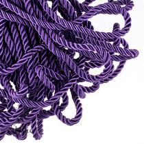 Шнур витой (крученый) 5 мм, цвет фиолетовый